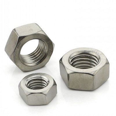 8mm Hexagon Full Nuts M8 Marine Grade A4 Stainless Steel (10 Pack)