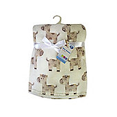 First Steps Supersoft Fleece Baby Blanket Cream Giraffes 75x100cm