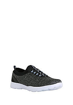 F&F Active Mock Lace Sock Trainers - Grey