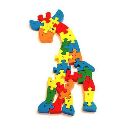 Traditional Wood 'n' Fun A - Z Chunky Giraffe Puzzle