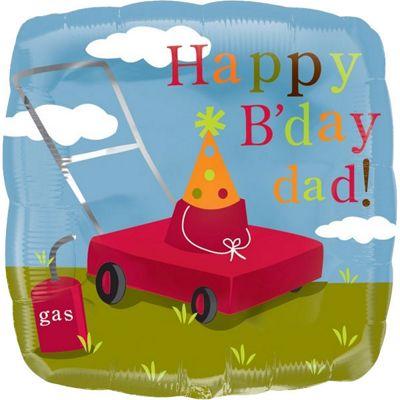 Happy Birthday Dad Lawn Mower Balloon - 18 inch Foil