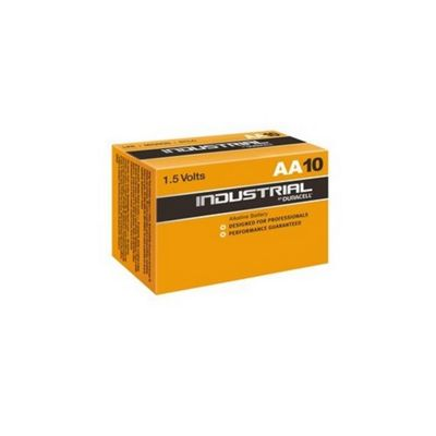 10 x AA Duracell Industrial MN1500 Alkaline 1.5V Batteries