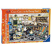 Ravensburger Crazy Cats In the Potting Shed, 500-Piece Jigsaw Puzzle