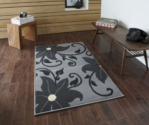 Think Rugs Modena Grey Budget Rug - 70 cm x 140 cm (2 ft 3 in x 4 ft 7 in)