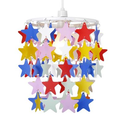 Stars Ceiling Pendant Light Shade, Multi Coloured