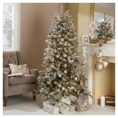 6ft Christmas Tree, Aspen Flocked