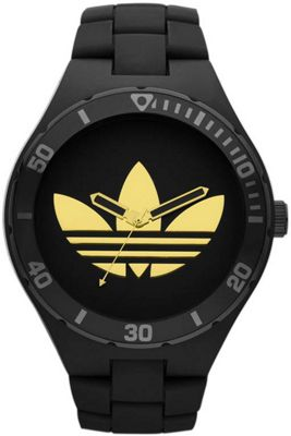 Adidas Unisex Sports Black Plastic Strap Watch ADH2644