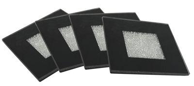 Diamond Crush Black Coaster Set