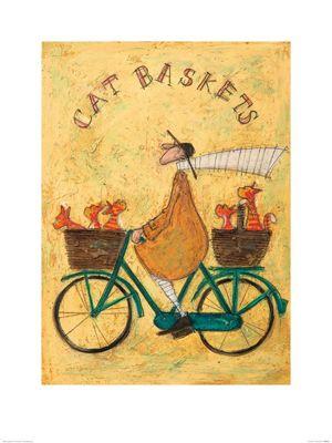 Sam Toft Cat Baskets Print 60x80cm