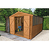Forest Garden 12x8 Overlap Dip Treated Double Door Apex Shed