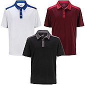 Woodworm Tour Performance V4 Mens Golf Polo Shirts 3 Pack - Multi