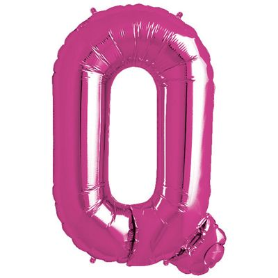 Magenta Letter Q Balloon - 34 inch Foil