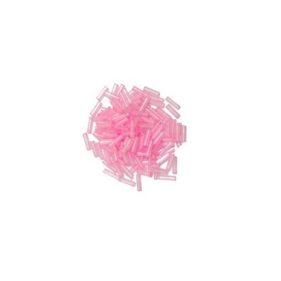 Impex Bugle Beads Pink 8 Grams