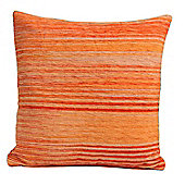 Homescapes Cotton Chenille Tie Dye Orange Scatter Cushion, 45 x 45 cm