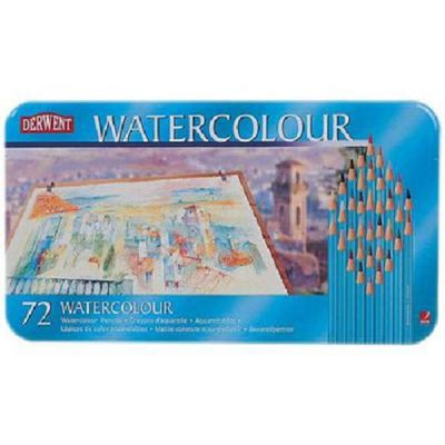 West Design Products Derwent Watercolour Tin 72 Pencils