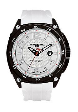 Men's Watch JG8400-12 - White Silicone Strap - White Dial - Jorg Gray