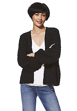 Only Textured Knit Cardigan - Black