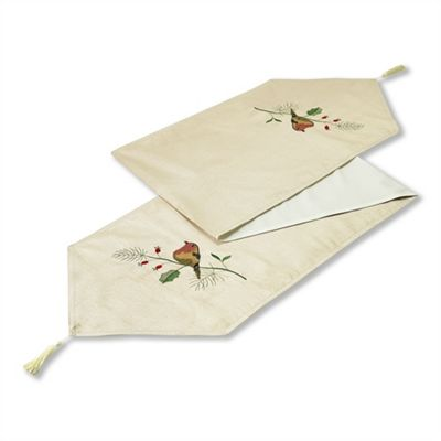 Christmas Robins Table Runner - 13x72 Inch