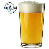 Duralex Unie Pint Glass Tumbler Goblet, 560ml Set of 2