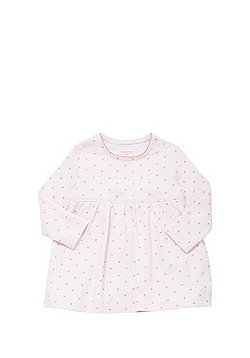 F&F Heart Print Integrated Bodysuit Dress - Pink