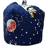 Space Rocket and Planets Bean Bag