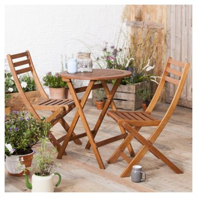 Buy Wooden Garden Bistro Set from our Wooden Garden Furniture