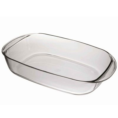Duralex Oven Chef Rectangular Roasting Dish - Clear - 410x250mm