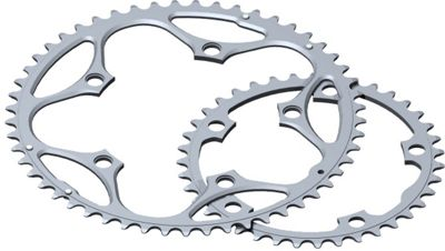 Stronglight 5-Arm/130mm Chainring: Silver 46T.