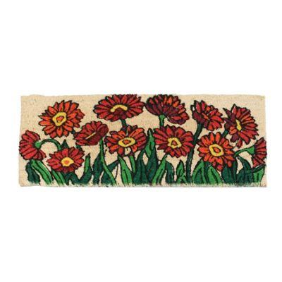 Homescapes Flower Garden Coir Door Mat