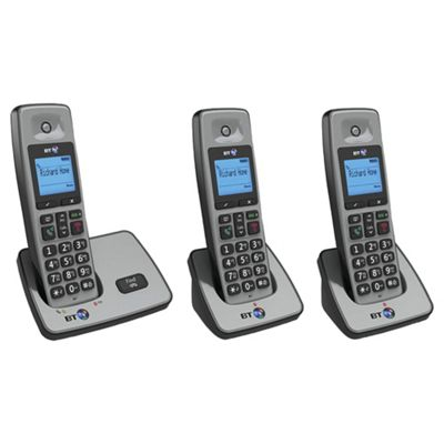 BT 2000 Cordless Triple Phone - Silver
