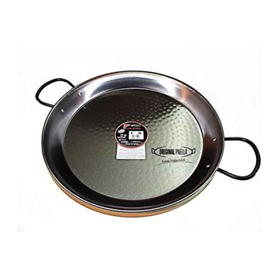 Polished Steel Paella Pan 38cm Paellera Valencian