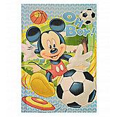 Disney Mickey Mouse 'Oh Boy' Fleece Panel Blanket