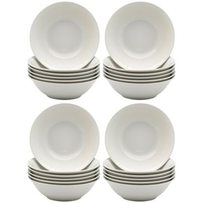 White Oatmeal Cereal Breakfast Bowls - 178mm (7