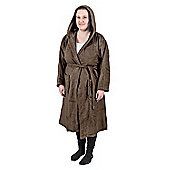 Homescapes Chestnut Brown 100% Combed Egyptian Cotton Hooded Adults Unisex Bathrobe, Small/Medium