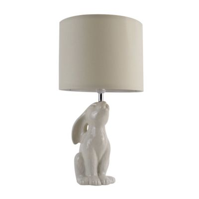 Buck Rabbit Table Lamp, Gloss Cream & Cream