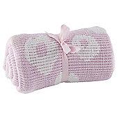 Tesco Flower Chenille Baby Blanket