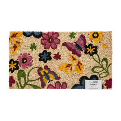 Homescapes Coir Spring Butterfly Summer Garden Doormat