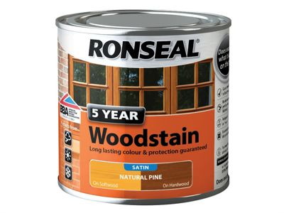 Ronseal 5 Year Woodstain Natural Pine 250Ml