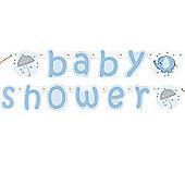 Umbrellaphants Blue Baby Shower letter Banner - 5ft