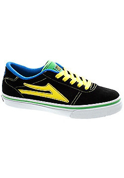 Lakai Manchester Kids Black/Green Suede Shoe - Black