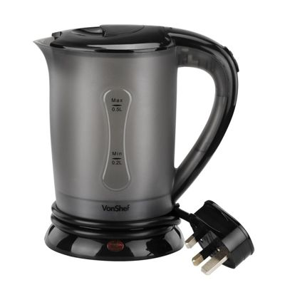 VonShef Travel Kettle with 2 Cups