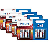 32 x Philips AA Power Alkaline LR6 Long Lasting Batteries