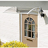 Easy Fit White Door Canopy