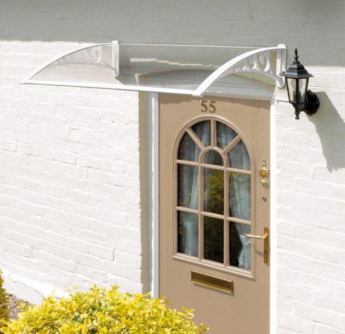 Easy Fit White Door Canopy