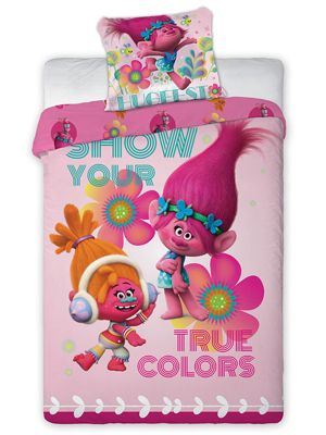 Trolls Duo Single Cotton Duvet Cover Set