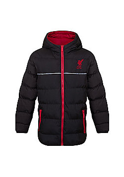 Liverpool FC Boys Quilted Jacket - Black