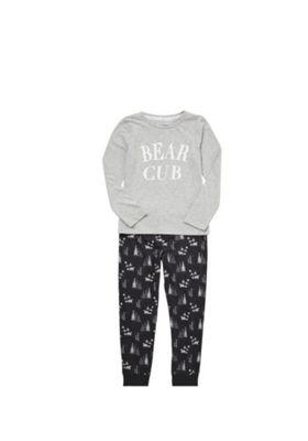 F&F Bear Cub Pyjamas 4-5 years Grey