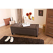 Verona Blanket Storage Box Brown