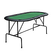 Homcom Poker Table Top 1.85m Folding Top For 8 Players Casino w/ Trays Drink Holders(foldable)