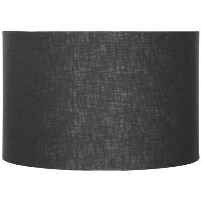 Modern 30cm Black Double Lined Linen Drum Lamp Shade Cylinder